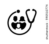 family healthcare icon | Shutterstock .eps vector #590510774