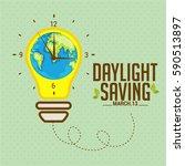 daylight saving time concept... | Shutterstock .eps vector #590513897