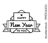 happy new year to you emblem... | Shutterstock .eps vector #590516351