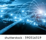 business networking connection... | Shutterstock . vector #590516519