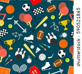 sport seamless pattern with... | Shutterstock .eps vector #590521865