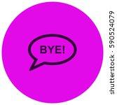 bye vector  icon   Shutterstock .eps vector #590524079