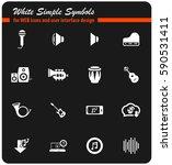 music vector icons for user... | Shutterstock .eps vector #590531411