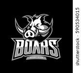 furious boar sport club vector... | Shutterstock .eps vector #590534015