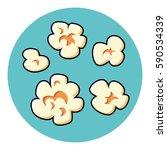 popcorn set vector. | Shutterstock .eps vector #590534339
