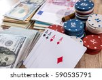 poker combinations   chips ... | Shutterstock . vector #590535791