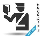 customs officer icon.... | Shutterstock .eps vector #590539727