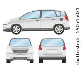 car vector template on white... | Shutterstock .eps vector #590545031
