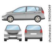 car vector template on white... | Shutterstock .eps vector #590545049