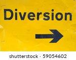 Diversion Sign For Traffic