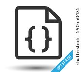 css icon. simple flat logo of... | Shutterstock .eps vector #590550485