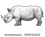 Rhinoceros Illustration ...
