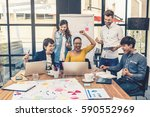 group of asian and multiethnic... | Shutterstock . vector #590552969