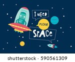 i need more space. card with... | Shutterstock .eps vector #590561309