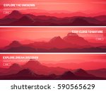 mountains and forest. wild... | Shutterstock .eps vector #590565629