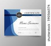 certificate premium template...   Shutterstock .eps vector #590566574