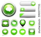 chat icon  speech button | Shutterstock .eps vector #590577731