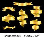 vintage hand drawn ribbon... | Shutterstock .eps vector #590578424