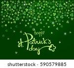 happy st. patrick's day... | Shutterstock .eps vector #590579885