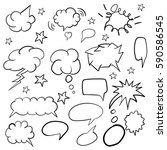 bubbles. hand drawing. saying.... | Shutterstock .eps vector #590586545
