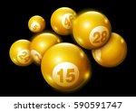3d lottery keno number ball... | Shutterstock .eps vector #590591747