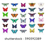 colorful collection of... | Shutterstock .eps vector #590592389