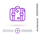 suitcase isolated minimal... | Shutterstock .eps vector #590594969