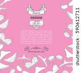 lingerie background vector... | Shutterstock .eps vector #590612711