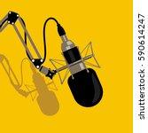 studio microphone | Shutterstock .eps vector #590614247