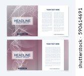 templates for square brochure.... | Shutterstock .eps vector #590614691