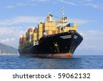 Large Container Ship In...