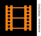 reel of film sign. orange icon... | Shutterstock .eps vector #590621411