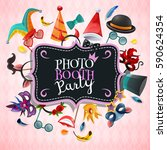 photo booth party background... | Shutterstock .eps vector #590624354