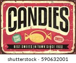 candy shop retro advertisement... | Shutterstock .eps vector #590632001