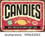 candy shop retro advertisement... | Shutterstock .eps vector #590632001