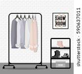 vector illustration with coat... | Shutterstock .eps vector #590637011