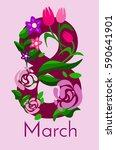 congratulations on march 8.... | Shutterstock .eps vector #590641901
