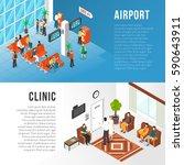 waiting area horizontal banners ... | Shutterstock .eps vector #590643911