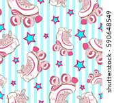 vector seamless pattern with... | Shutterstock .eps vector #590648549