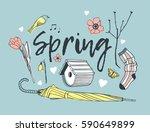 hand drawn illustration.... | Shutterstock .eps vector #590649899