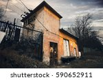 an old abandoned building...   Shutterstock . vector #590652911