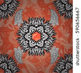 seamless floral pattern....   Shutterstock . vector #590656667