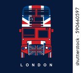 london symbol   red bus icon  ... | Shutterstock .eps vector #590660597