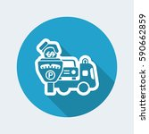 wrecker parking area | Shutterstock .eps vector #590662859