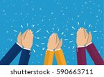 human hands clapping. applaud... | Shutterstock .eps vector #590663711