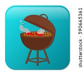 grill icon | Shutterstock .eps vector #590665361