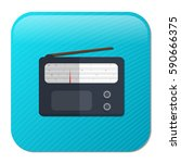radio icon | Shutterstock .eps vector #590666375
