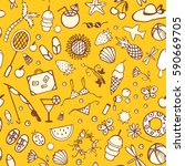 bright seamless pattern... | Shutterstock .eps vector #590669705