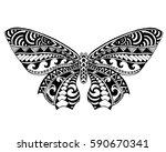 beautiful butterfly. black... | Shutterstock .eps vector #590670341