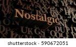 nostalgic   wooden 3d rendered... | Shutterstock . vector #590672051